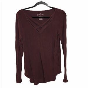 AEO soft & sexy women's long sleeve shirt small